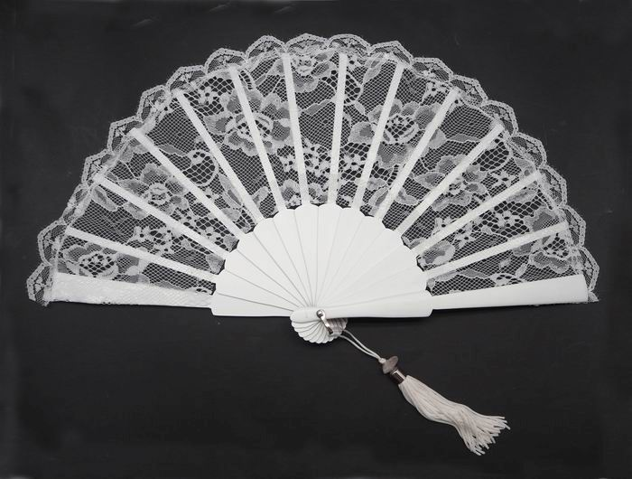 White Small Fan for Bride. Ref. 1308