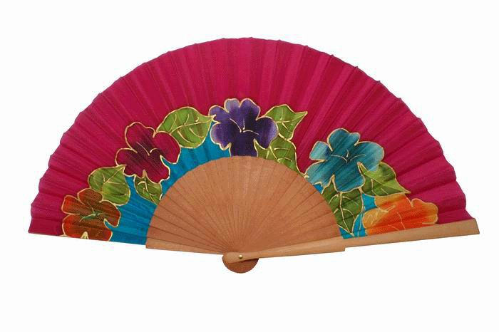 Hand painted Silk Fan – MA72