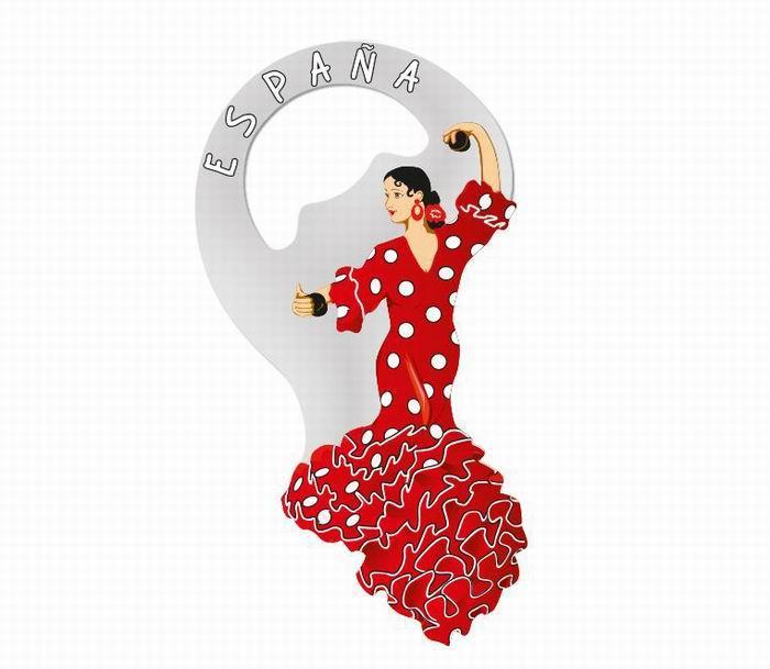 Aimant ouvre bouteille danseuse flamenca rouge