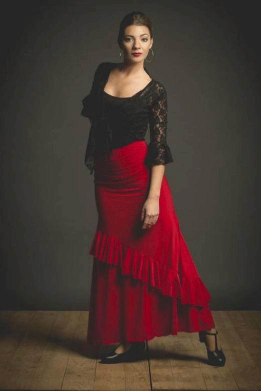 Falda de Flamenco Bornos. Davedans