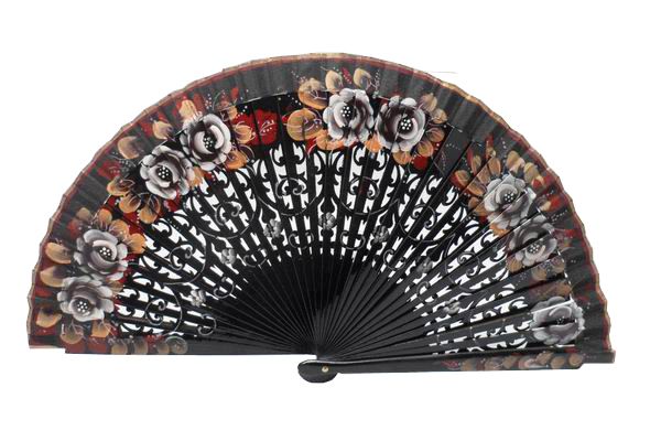 Wooden Fans Hand Painted by both sides. Ref. 4427
