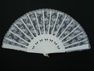 Wood and Silk Lace Fan for Bride 43.39€ #50032Y992