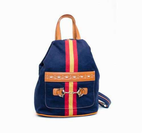 Blue Tarpaulin Backpack with Spanish Flag and Stirrup 47.100€ #50014C415