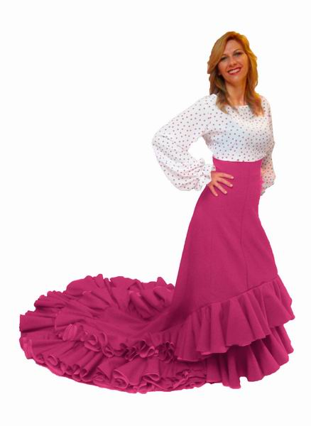 Flamenca Skirt with Train for Rehearsal