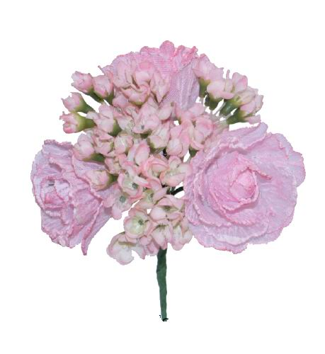 Bouquet of Pink Flamenco Flowers for Kid. 12cm