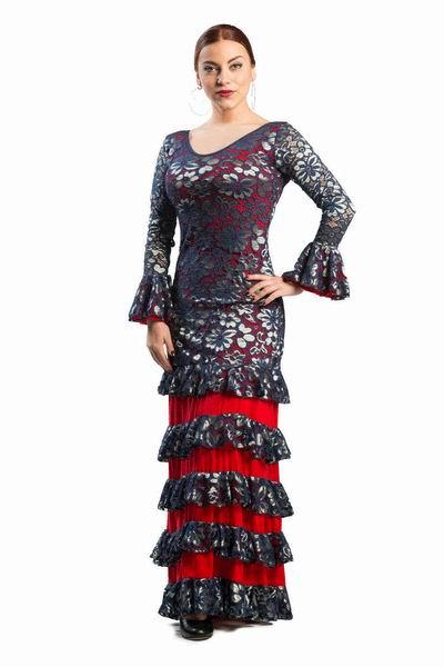 フラメンコダンスドレス. Seguidillas モデル. Ref. 3795