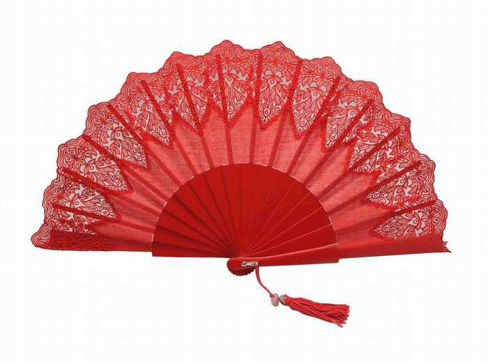 Red Lace Fan for Ceremony. Ref. 1658