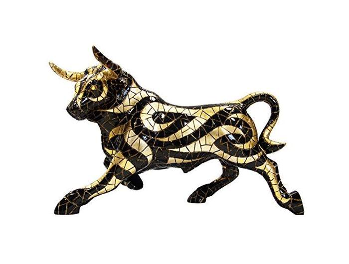 Black and Gold Bull. Barcino Carnival Collection. 32cm
