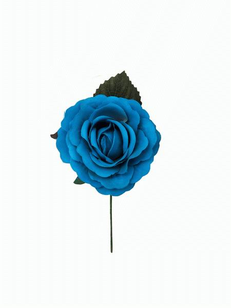 Flamenca Rose in Turquoise Medium size. Model Venecia. 11cm