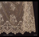 Cream Spanish Veil (Shawl) made of Cotton ref.A819616201039CRM. Measurements: 120x240 cm