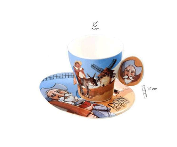 Coffret 2 tasses à café Don Quijote