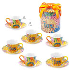 Coffee set of 6 cups Gaudí Bull design with matching Box 14.050€ #500586015