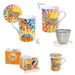 Ceramic mug with metallic filter decorated with Osborne bull Gaudí style 7.120€ #5005806007