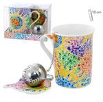 Tea set of mug, saucer and filter, ceramic with Gaudi designs 6.160€ #5005804028