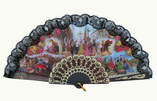 Fan With Flamenco and Bullfight Scenes ref. 2778
