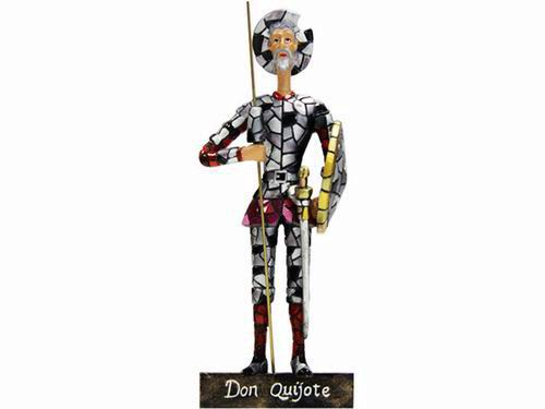 Figurine Don Quichotte Mosaïque. 16cm