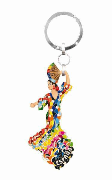 Keyring Flamenco dancer Gaudi dress