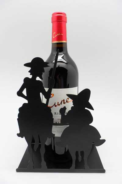 Don Quixote and Sancho Panza Wine Rack