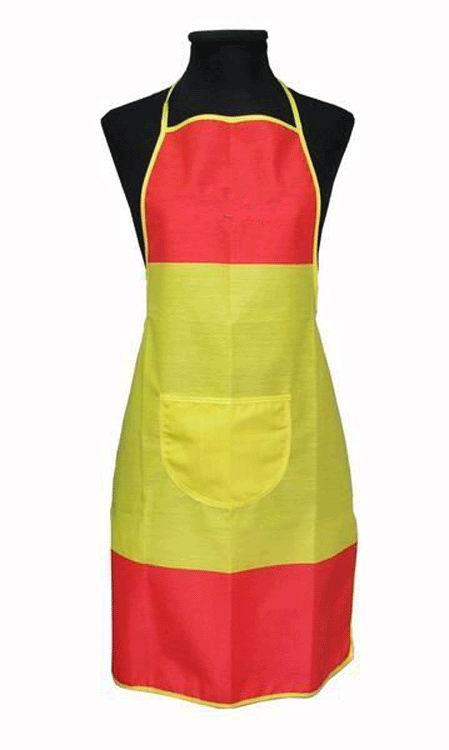 キッチンエプロン スペイン国旗柄