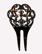Small Imitation Mother-of-Pearl/Tortoiseshell Combs With Diamante- ref. S920