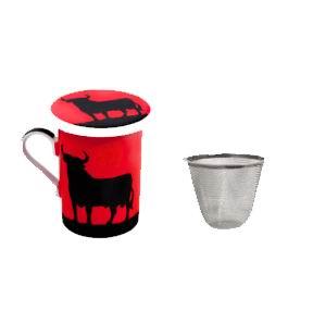 Set de tasse, filtre métallique et couvercle avec taureau noir Osborne 7.150€ #5005806009