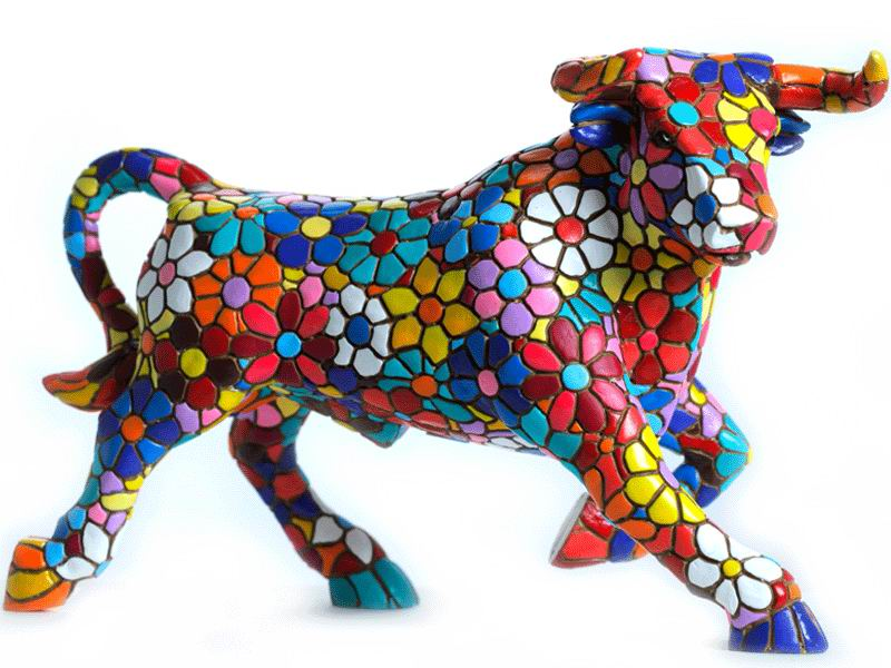 Flower Mosaic Bull. 24cm