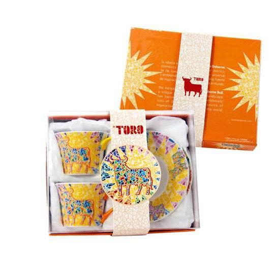 Set de deux tasses à café Toro de Osborne Gaudi