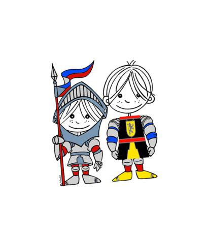 T-shirt for children. Medieval