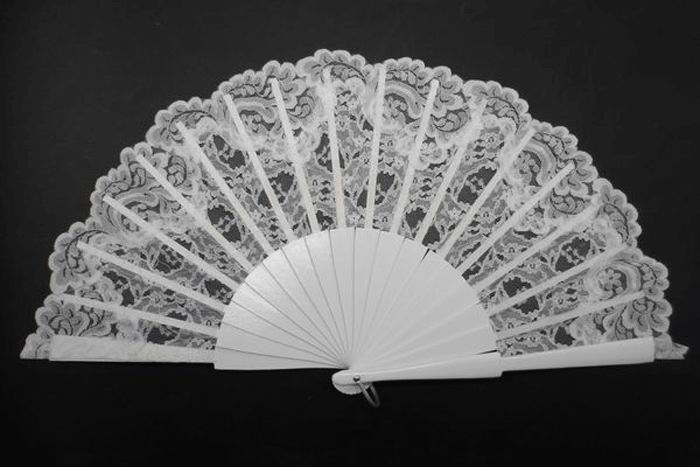 White Fan with Lace
