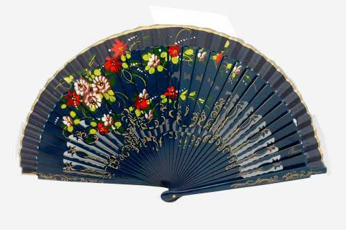 Openwork Fan with floral design on both sides Ref. 1125