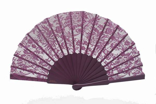 Purple Lace Ceremony Fan. Ref.6821