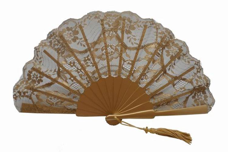 Golden Ceremony or Party Fan. Ref. 1644
