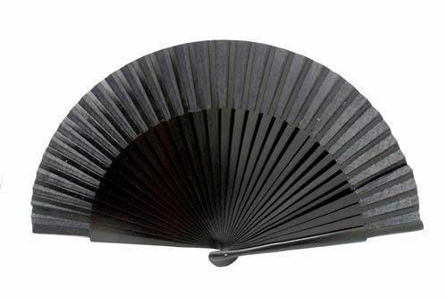 Plain black wooden fan