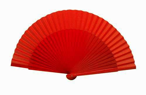 Plain Red Wooden Fan