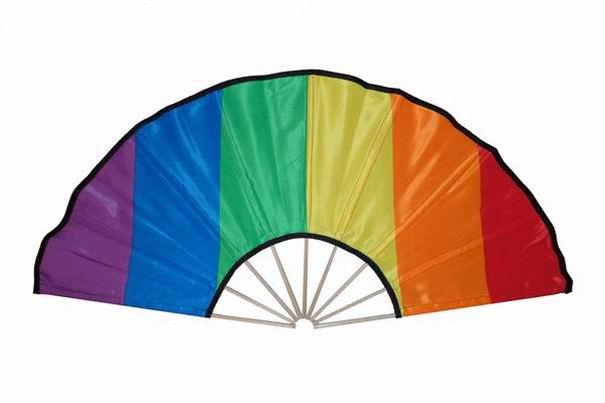 Éventail Gay Pride Loco Ibiza. 84cm X 40cm