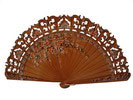 Hazelnut Colour Hand Painted Fan 6.95€ #505804270