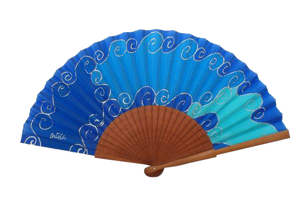 Hand painted Silk Fan – 43DCH