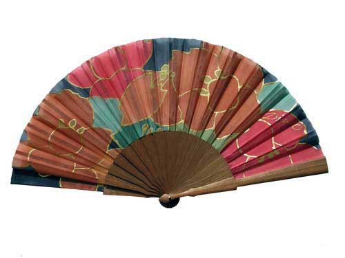 Hand painted Silk Fan - B1