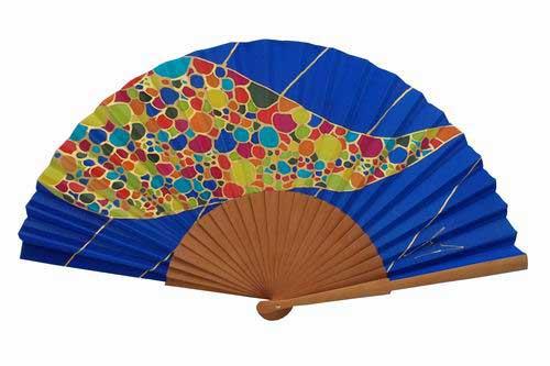 Hand painted Silk Fan– MA47
