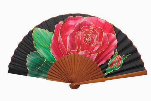 Hand painted Silk Fan - MA1