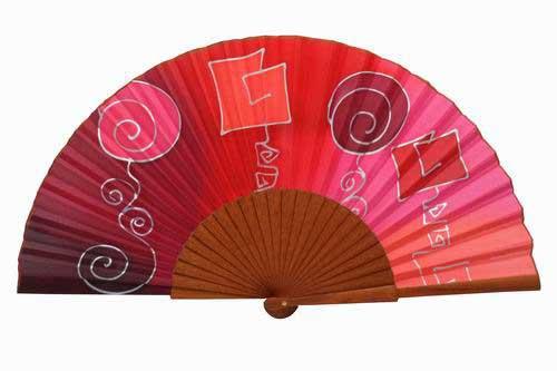 Hand painted Silk Fan- MA12