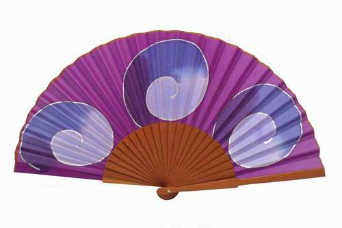 Hand painted Silk Fan - MA16