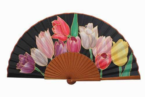Hand painted Silk Fan - MA21
