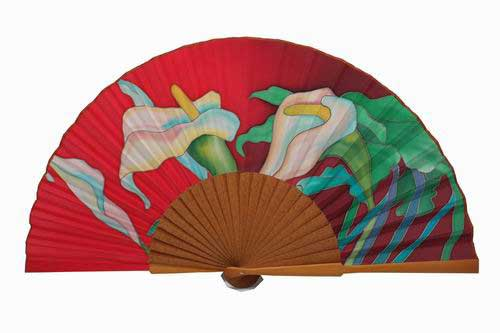 Hand painted Silk Fan- MA9