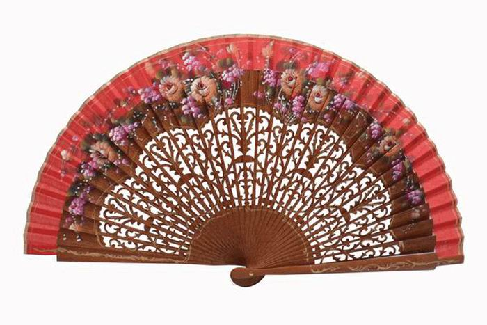 Bubinga fan spanish handicraft. Ref. 394