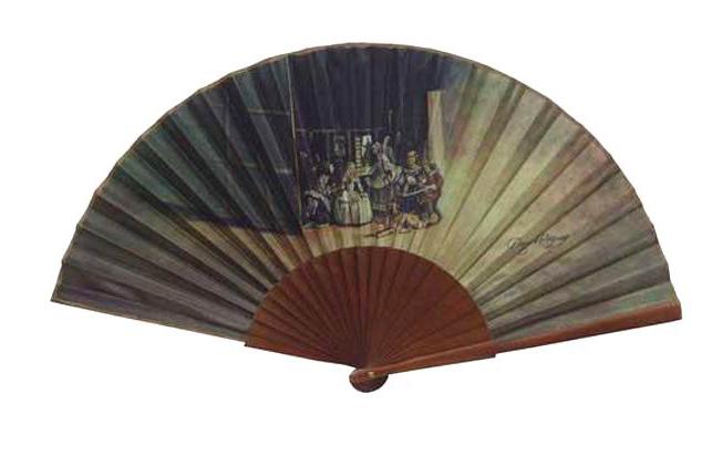 Eventail du tableau de Velazaquez. Les Meninas