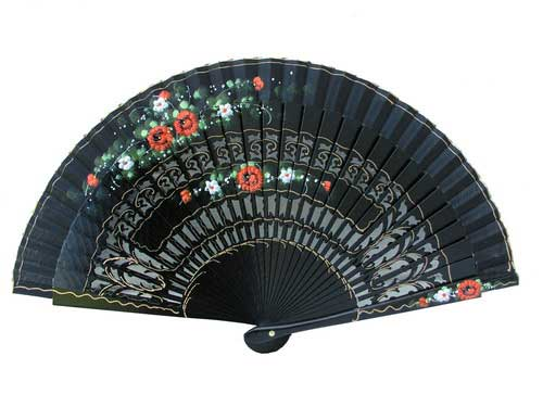 Hand Painted Fan For Flamenco Dance ref. 73