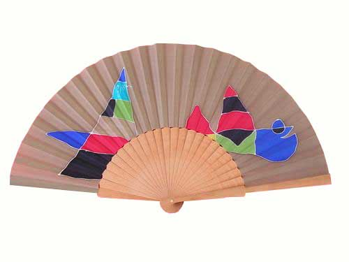 Hand painted Silk Fan- A6