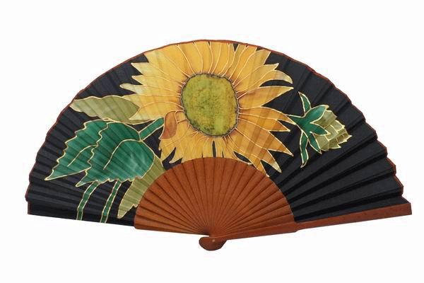 Hand painted Silk Fan. MA30