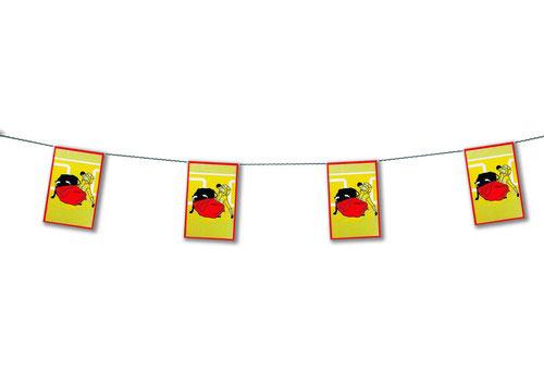 万国旗型 旗飾り 闘牛 プラスティック製
